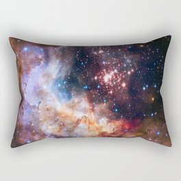 picture of star by hubble: celestial firework Rectangular Pillow