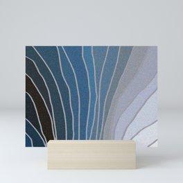 Flowing Blue Shapes Mini Art Print