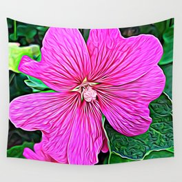 Pink Flowers of Diamond Essence Wall Tapestry