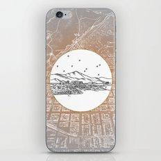 Colorado Springs, Colorado City Skyline Illustration Drawing iPhone Skin