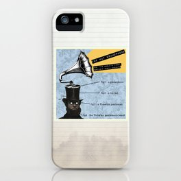 Top Hat Gramophone iPhone Case