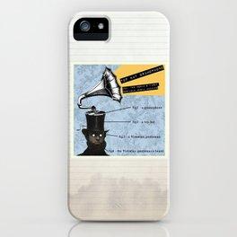 Top Hat Gramophone iPhone Case