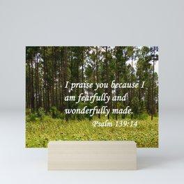 Fearfully and Wonderfully Made Mini Art Print
