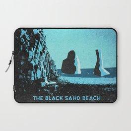 Iceland's Reynisfjara: Black Sand Beach Laptop Sleeve