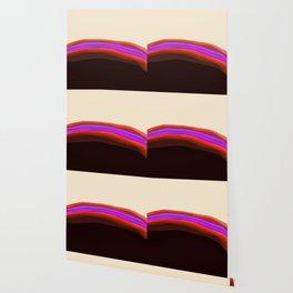 Orange, Purple, and Cream Abstract Wallpaper