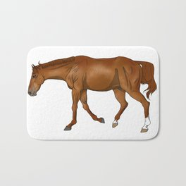 Phar Lap, sorrel/chestnut Thoroughbred (without halter) Bath Mat
