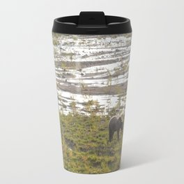 Grizzly bear at sundown Travel Mug