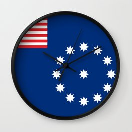 Easton city flag united states of america Pennsylvania Wall Clock