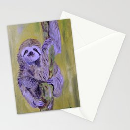 Curious Sloth Stationery Cards
