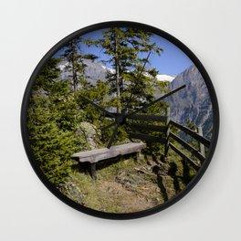 Aellfluh Grindelwald Switzerland Wall Clock