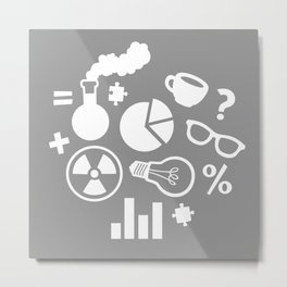 Grey Scientist Metal Print
