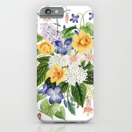 Daffodil and Violets iPhone Case