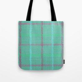 Well Plaid (TEAL) Tote Bag