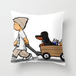 Me and the Bonz Throw Pillow