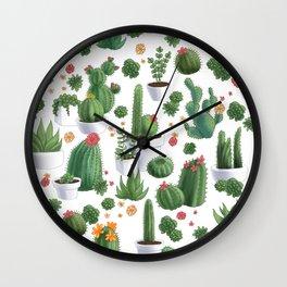 Succulent Cacti Wall Clock