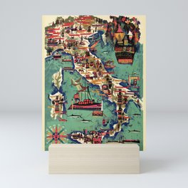 Italy Wine Map Mini Art Print
