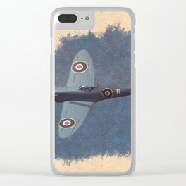 Spitfire - WWII Fighter Clear iPhone Case