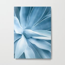 Agave blue Metal Print