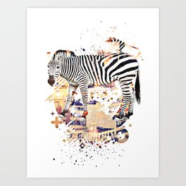 Zebra Cross by GEN Z Art Print