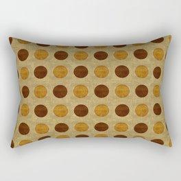 """Vintage Polka Dots"" Rectangular Pillow"