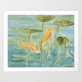 pond in chatham Art Print