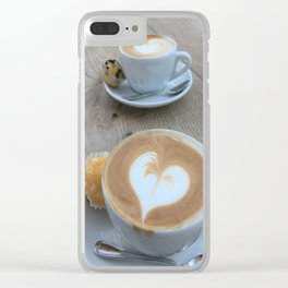 Sweet Cappuccino and a Heart Clear iPhone Case