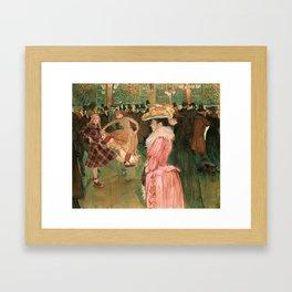 kiernan shipka + henri toulouse-lautrec Framed Art Print