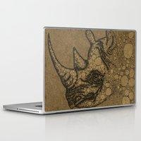 rhino Laptop & iPad Skins featuring Rhino by Julia Kisselmann