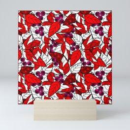 Retro . Bright colorful pattern . Mini Art Print