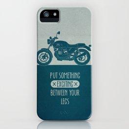 between your legs blue iPhone Case