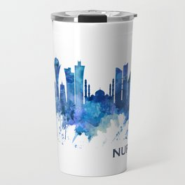 Nur-Sultan Kazakhstan Skyline Blue Travel Mug