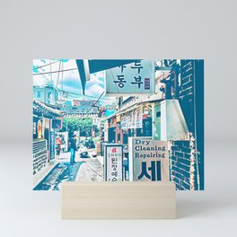 Downtown Alley, Seoul, South Korea Mini Art Print