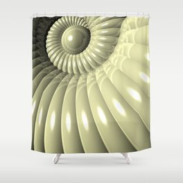 Shell of Repetition Shower Curtain