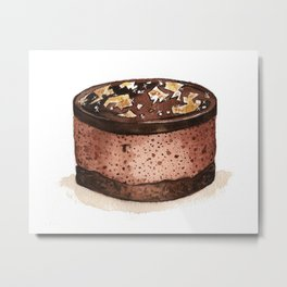 Chocolate Mousse Metal Print