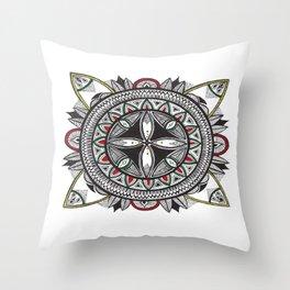 Rastafari Sabali Mandala Throw Pillow