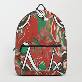 Biking By Red Rose Garden by Lorloves Design Backpack
