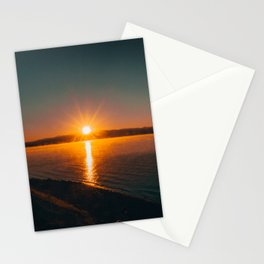 Sunrise Over Oxbow Bend Stationery Cards