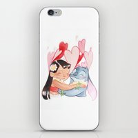 lilo and stitch iPhone & iPod Skins featuring Lilo and stitch  by Mashiiro (M. G.)