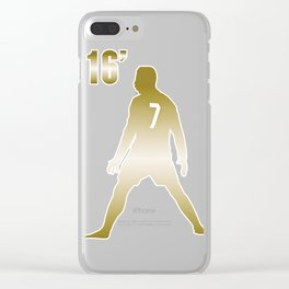 CR7 GOLD Clear iPhone Case