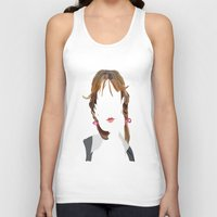 britney Tank Tops featuring Britney by Bethany Mallick
