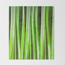 Tropical Green Riverweed Throw Blanket