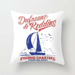 Defresne & Redding Fishing Charters Throw Pillow