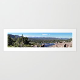 Uinta Mountain Water Drop Art Print