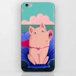 Birth of the pig iPhone Skin