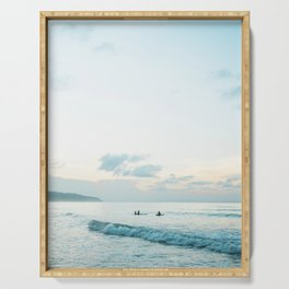 Once your board hits the water  | Surf travel photography print Serving Tray