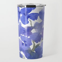 Beautiful Blue Delphiniums Travel Mug