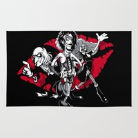 rocky horror Area & Throw Rugs featuring Rocky Horror Gang by Billy Allison