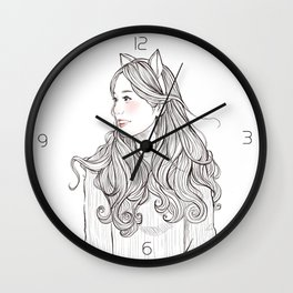sweet babe *GirlsCollection* Wall Clock