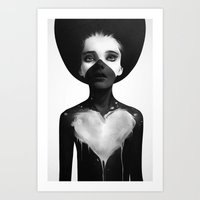 sad Art Prints featuring Hold On by Ruben Ireland