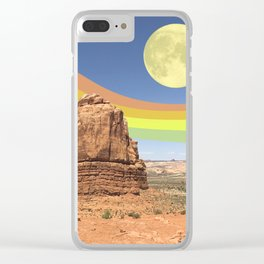 Canyon Land Clear iPhone Case